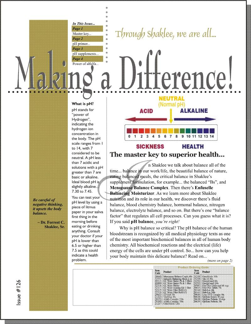 Making a Difference! Issue #126 - Page 1