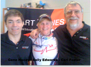 Carl Foster with Gene Nacey Sally Edwards