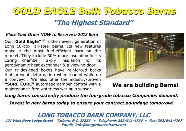 Gold Eagle Bulk Tobacco Barns