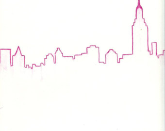 NYC skyline pencil