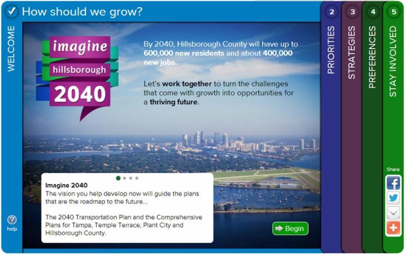 Imagine 2040 MetroQuest tool