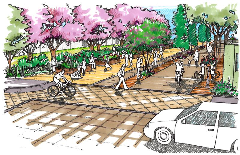 complete street rendering from alta planning