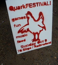 QuarkFEST Road Sign