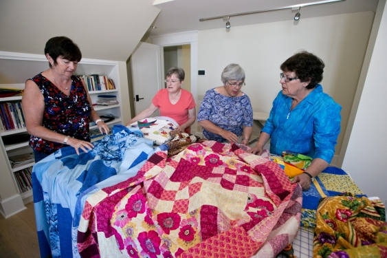 Gathering Quilt Tops at Jennifer's
