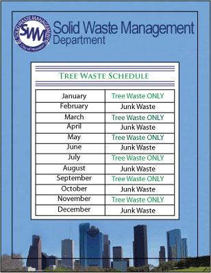 Heavy Trash Schedule