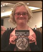 Allison Nichols with award