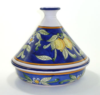 tagine yellow and blue