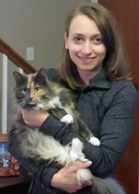 Danielle and cat