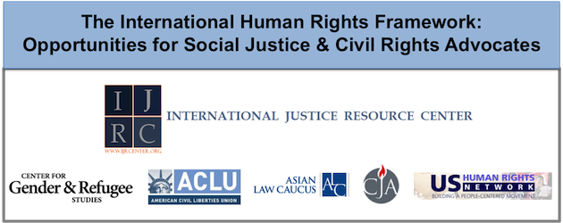 International Human Rights Framework training seminar image
