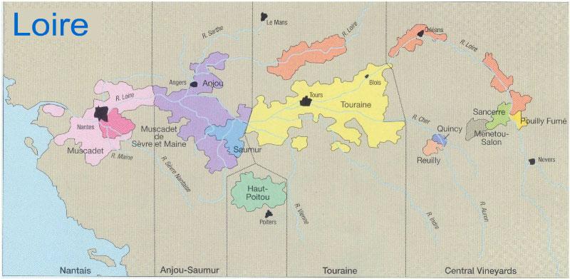 Loire Wine Map