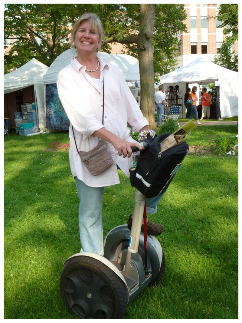 Janet Brode on Segway