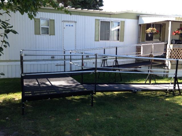 metal ramp on trailer