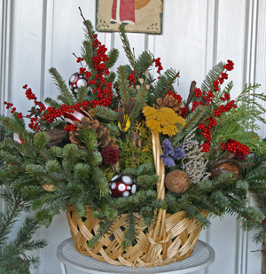 Holiday arrangement from the garden