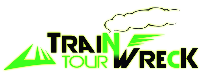 Train Wreck Tour logo- register now!