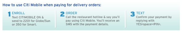 how to order from Citi Mobile