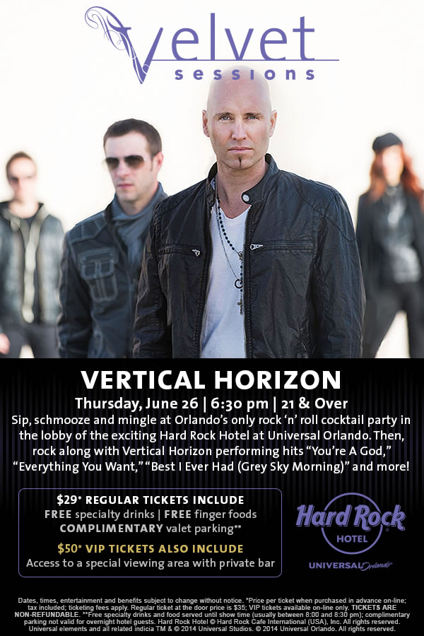 Velvet Sessions featuring Vertical Horizon on June 26, 2014