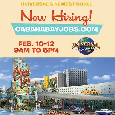 Universal's Cabana Bay Beach Resort Now Hiring! CabanaBayJobs.com