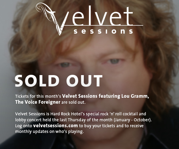 Velvet Sessions featuring Lou Gramm, The Voice of Foreigner, at Hard Rock Hotel at Universal Orlando