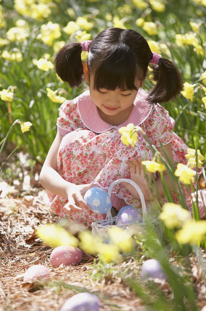 Easter Egg Hunt - Little Girl