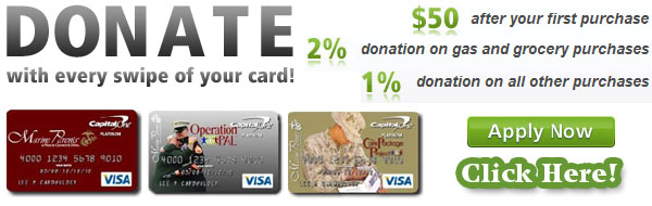 DONATE with every swipe of your card!