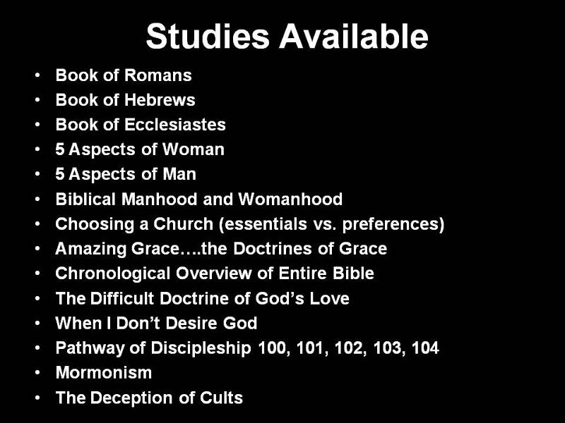 bible courses