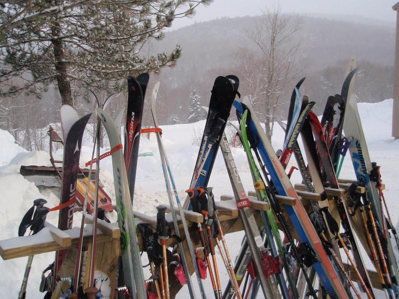 Skis on Rack