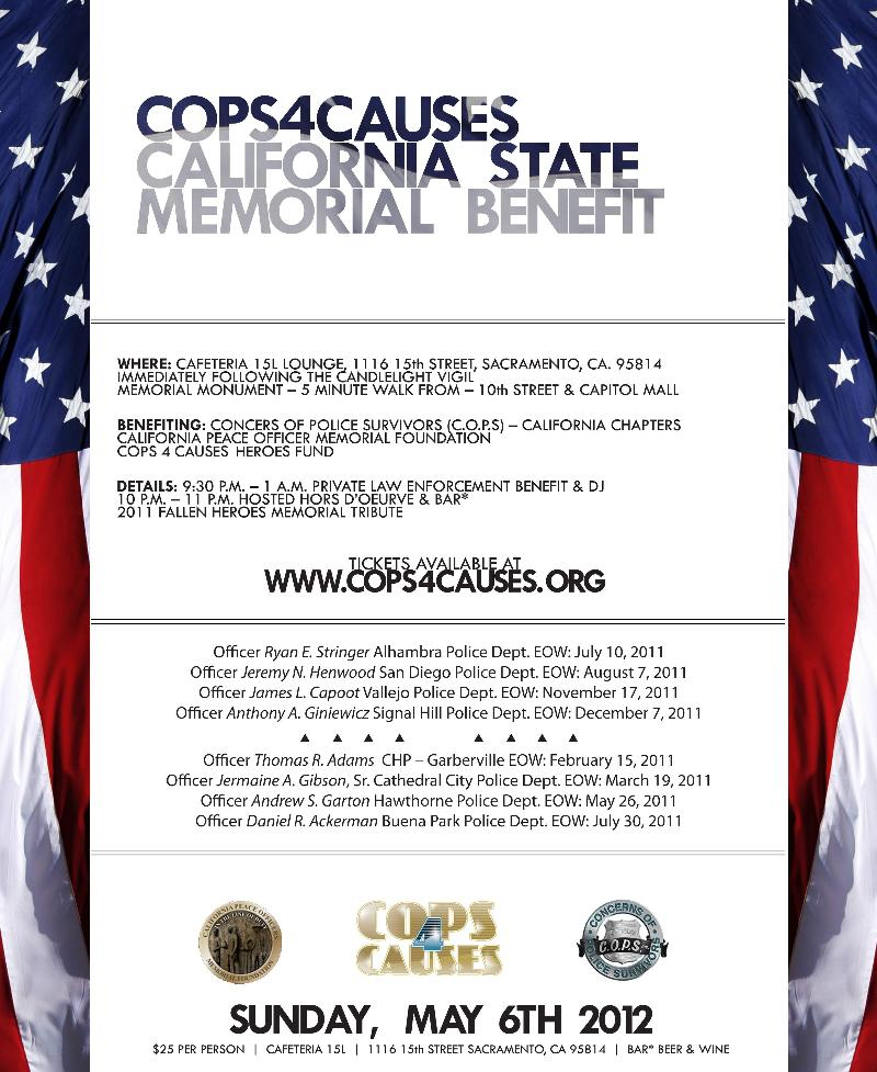 Cops4Causes Califronia State Memorial Benefit