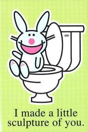 Happy Bunny mak...g scupture