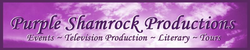 purple shamrock logo