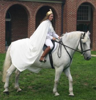 Inez on a horse