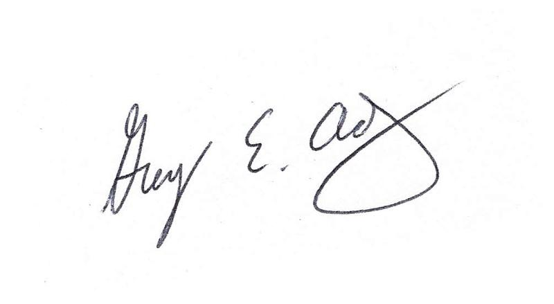 Greg Adkin's Signature