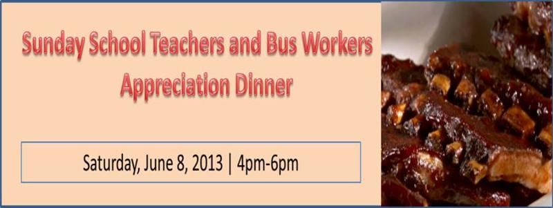 2013 Teacher Appreciation Dinner