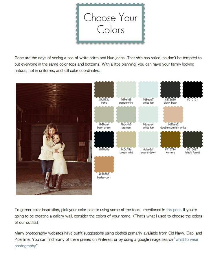 clothing colors