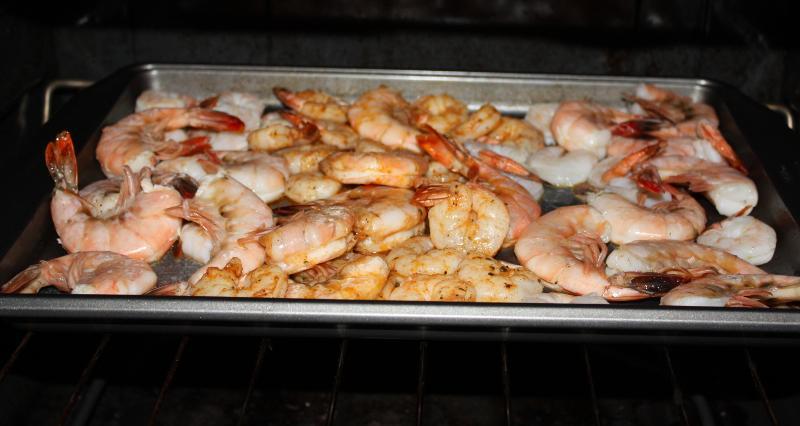 roasting shrimp!