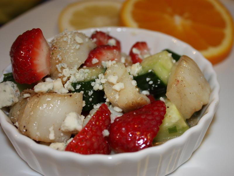 summer scallop salad