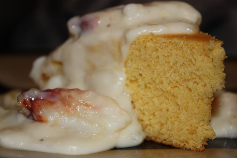 creamed crab and cornbread