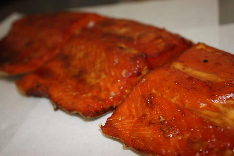 Smoked and Grilled Coho