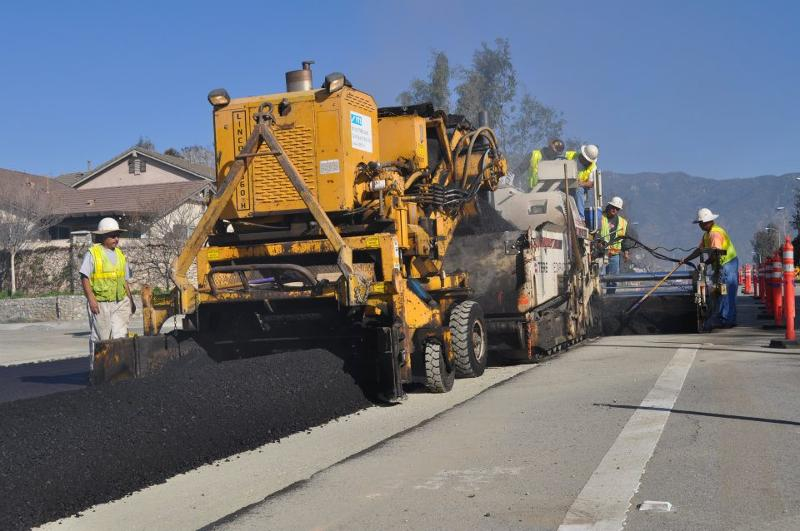 Sully-Miller paving operation Rancho Cucamonga