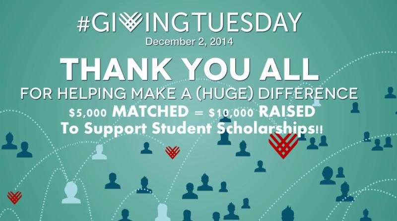 DBCR raises $10,000 on Giving Tuesday!