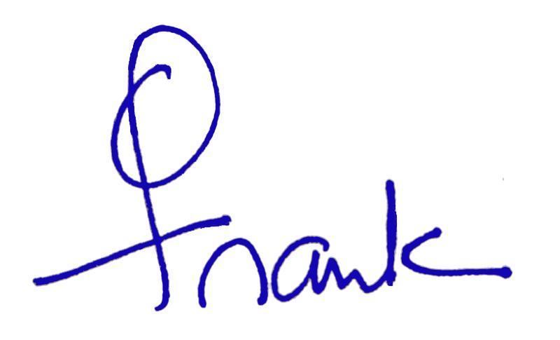 franks signature blue