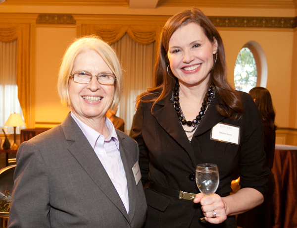 Dean Susan J. Schurman and Geena Davis