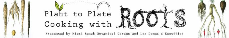 Plant to Plate Cooking with Roots Workshop Banner