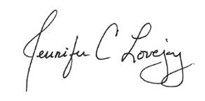 Jennifer Lovejoy Signature