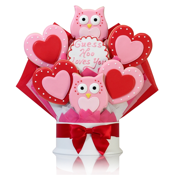 HOO LOVES YOU COOKIE BOUQUET