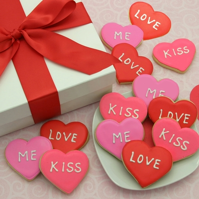 Valentines Sweet Hearts Cookie Box