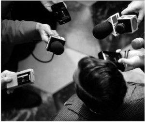 Media Crisis photo bw