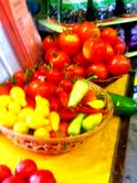 Tomatoes for sale at Harper's Mesa