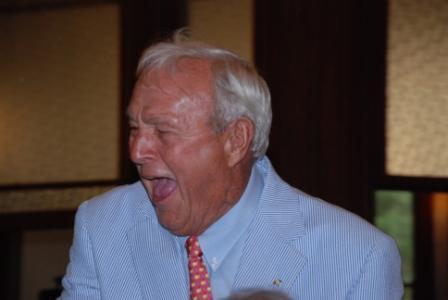 Arnie laughing