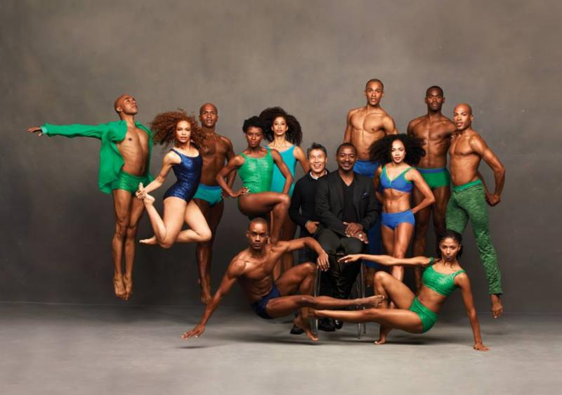 The Company with Artistic Director Robert Battle and Associate Artistic Director Masazumi Chaya. Photo by Andrew Eccles