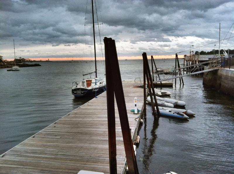 After the Storm at Fayerweather Yacht Club - photo by Gail Robinson